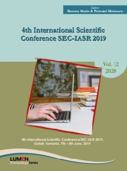 Oferta de 4th international scientific conference SEC-IASR 2019 - Simona MARIN, Petronel MOISESCU [editori] Editura Științifică Lumen Conference Proceedings Libraria Virtuala LUMEN
