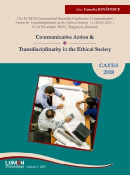 Oferta de Communicative Action and Transdisciplinarity in the Ethical Society. CATES 2018 - Camelia IGNATESCU [editor] Editura Științifică Lumen Conference Proceedings Libraria Virtuala LUMEN